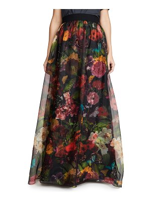 Alice + Olivia yvonne gathered maxi skirt with overskirt