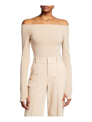 Alice + Olivia Zadie Off-Shoulder Bodysuit