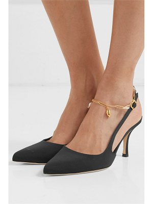Alighieri the initial spark embellished faille slingback pumps