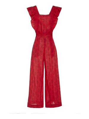 Alix of Bohemia limited edition claudia red block print jumpsuit