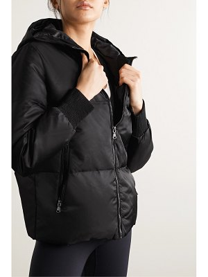 All Access beats hooded quilted shell down jacket