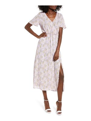 ALL IN FAVOR floral faux wrap dress