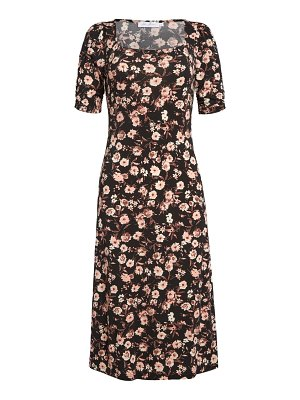 ALL IN FAVOR floral print midi dress