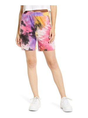 ALL IN FAVOR french terry tie dye bike shorts