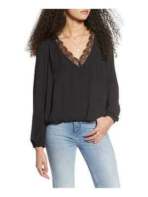 ALL IN FAVOR lace trim blouse