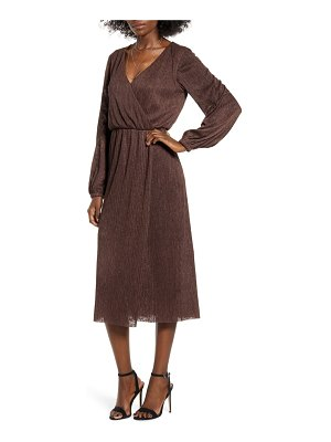 ALL IN FAVOR long sleeve midi dress