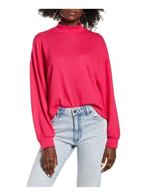 ALL IN FAVOR mock neck sweatshirt