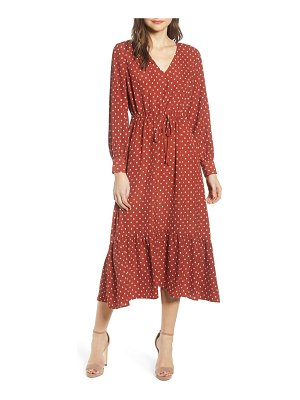 ALL IN FAVOR polka dot maxi dress