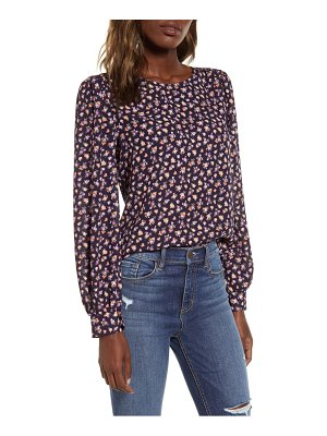 ALL IN FAVOR print blouse
