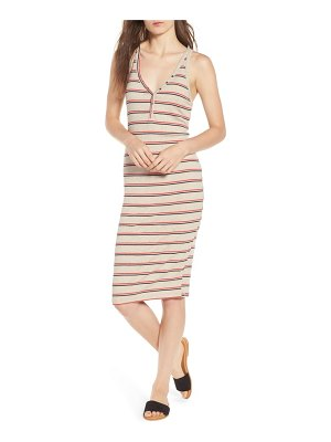 ALL IN FAVOR rib knit tank dress
