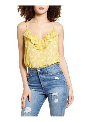 ALL IN FAVOR ruffle cami bodysuit