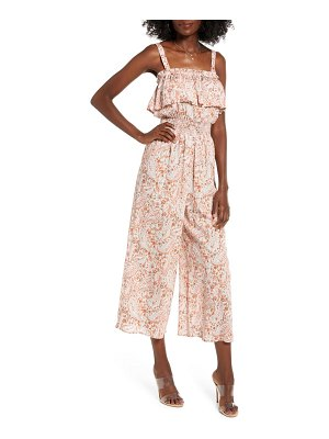 ALL IN FAVOR ruffle detail culotte jumpsuit