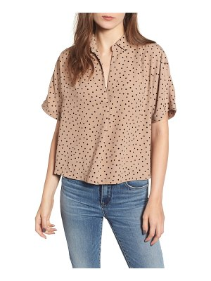ALL IN FAVOR short sleeve crop blouse