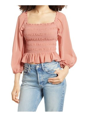 ALL IN FAVOR smocked long sleeve top