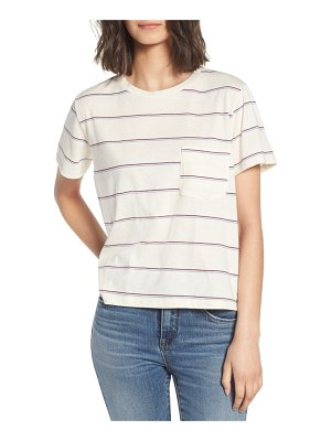 ALL IN FAVOR stripe pocket tee