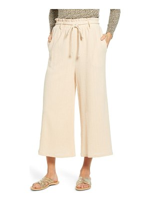 ALL IN FAVOR textured pull on crop pants