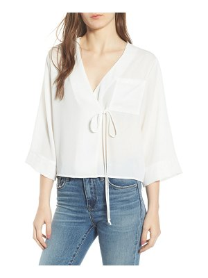 ALL IN FAVOR tie front wrap top
