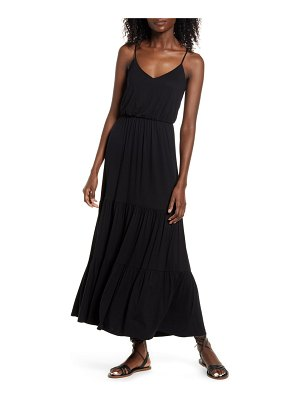ALL IN FAVOR tiered cami maxi dress