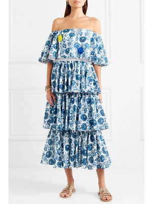 All Things Mochi barta off-the-shoulder printed cotton midi dress
