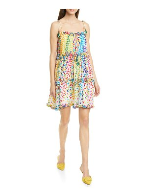All Things Mochi blessica polka dot silk blend crepe minidress