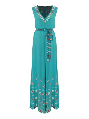 All Things Mochi farah embroidered cotton jumpsuit