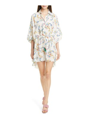 All Things Mochi malaya floral print silk shirtdress