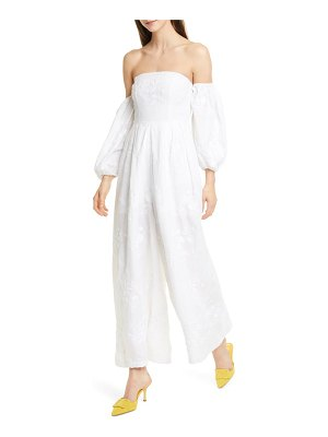All Things Mochi manila off the shoulder wide leg jumpsuit