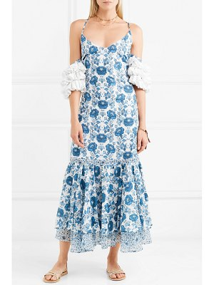 All Things Mochi natalia crochet-trimmed printed cotton midi dress
