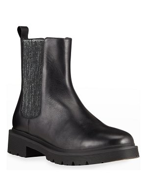 Allegra James Leather Pull-On Chelsea Boots