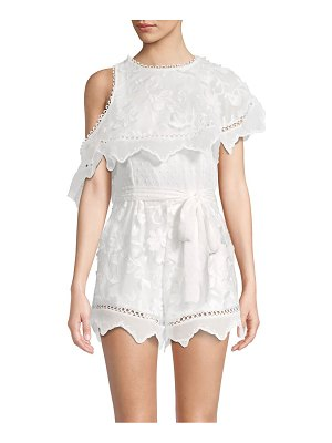 Allison New York 3D Embroidered Floral Romper