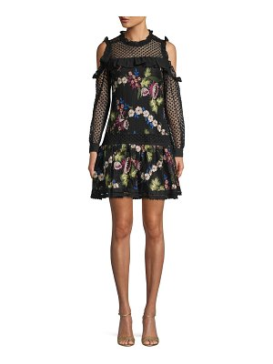 Allison New York Embroidered Floral Shift Dress