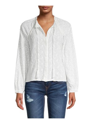 Allison New York Embroidered Peasant Blouse