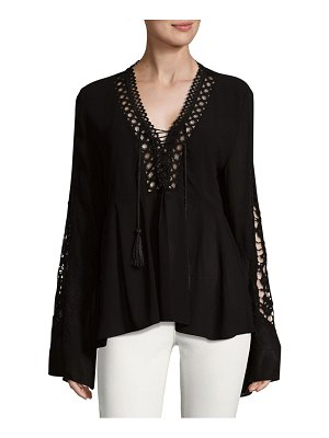 Allison New York Embroidered Sleeve Top