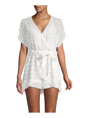 Allison New York Embroidered Wrap-Front Romper