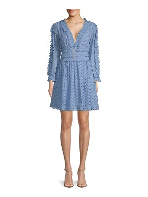 Allison New York Long-Sleeve Lace Cotton Dress