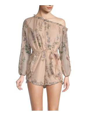 Allison New York One-Shoulder Floral Romper