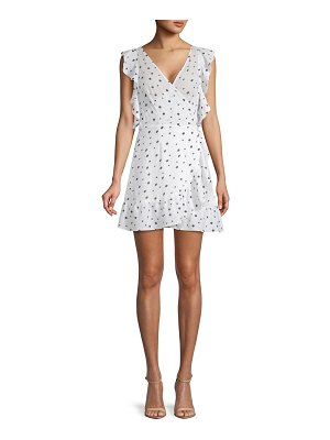 Allison New York Polka Dot Ruffled Dress