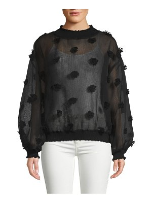 Allison New York Ribbed Pom Pom Pullover