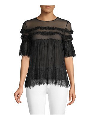 Allison New York Ruffled Lace Blouse