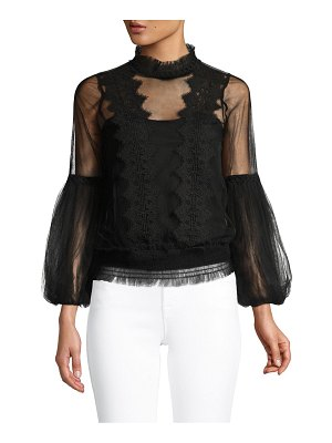 Allison New York Sheer Lace Blouse