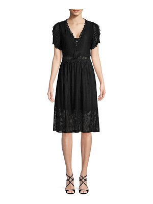 Allison New York Short-Sleeve Lace Dress