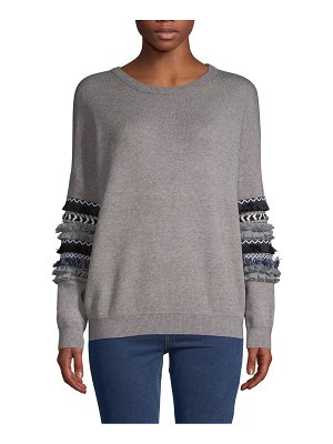 Allison New York Textured Long-Sleeve Sweater