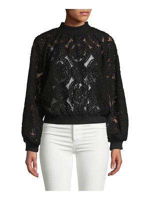 Allison New York Velvet Lace Sweatshirt