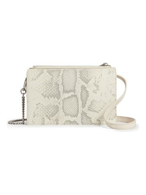 ALLSAINTS claremont snake embossed leather crossbody bag