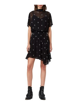 ALLSAINTS giulia cyla embroidered funnel neck dress