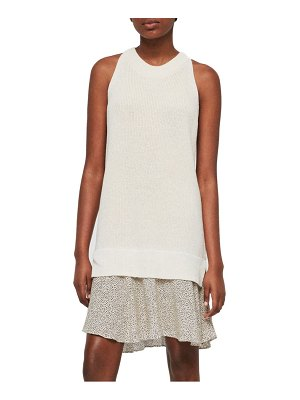 ALLSAINTS haliki speckle layered sweater dress