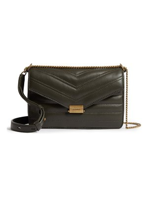 ALLSAINTS small justine quilted leather crossbody bag
