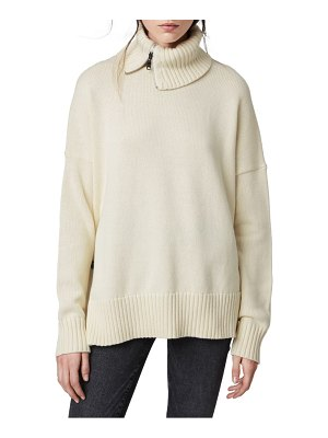 ALLSAINTS witby zip neck cashmere sweater