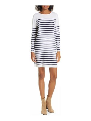 ALLUDE breton stripe cashmere sweater dress