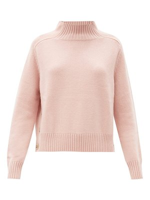 ALLUDE buttoned-side wool-blend sweater